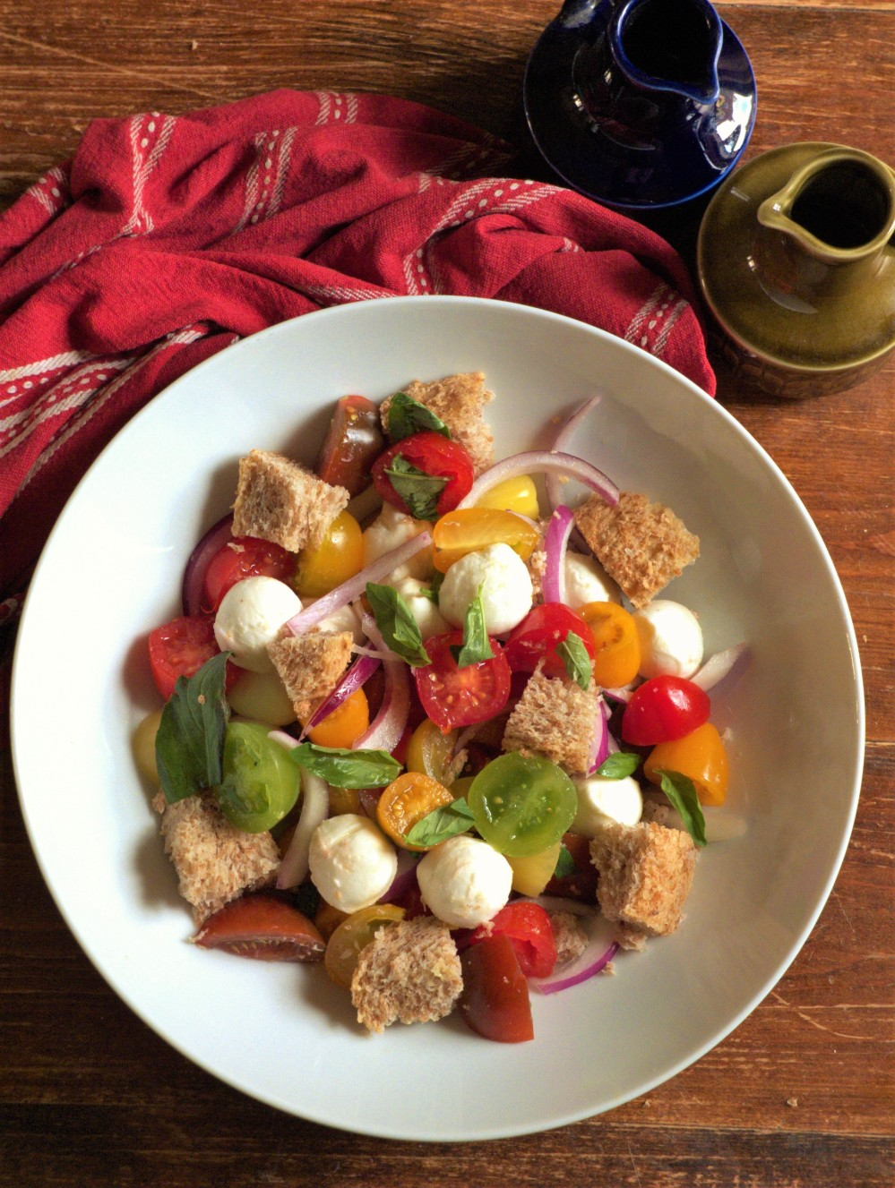 Panzanella above tall