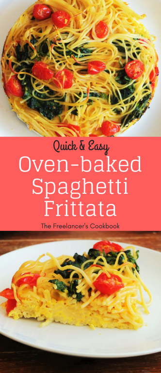 Leftover spaghetti frittata easy healthy oven cooked recipe 2(2)