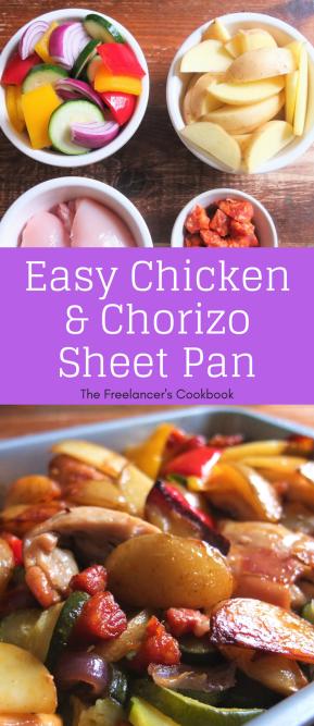 Chicken and chorizo sheet pan